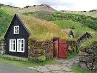 Case con tetti erbosi in Islanda - Case con tetti erbosi in Islanda