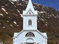 Kościół na Islandii - Budynek kościoła na wyspie Islandia