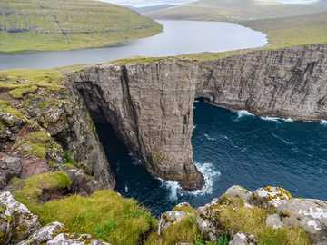 Faroe Inland Sea above the cliffs - Faroe Inland Sea above the cliffs
