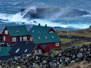 Case sulla costa delle Isole Faroe - Case sulla costa delle Isole Faroe