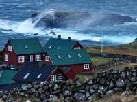 Case sulla costa delle Isole Faroe