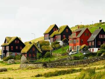 Domy na wybrzeżu Wysp Owczych Koltur - Domy na wybrzeżu Wysp Owczych Koltur