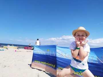 child on the beach - m ...................