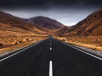 Krajobraz drogowy. - Układanka krajobrazowa.