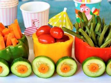 trainiere mit Gemüse für Schnäppchen - m ......................