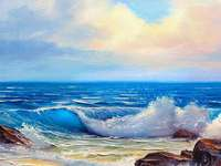 Peinture à l'huile, presque réelle - Peinture, art, belles couleurs