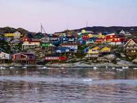 Case colorate in Groenlandia