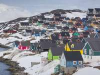 Colorful houses on Greenland