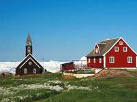 House and Church in Greenland - House and Church in Greenland