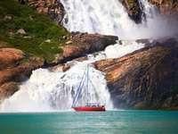 Платноходка пред Гренландския водопад - Платноходка пред Гренландския водопад