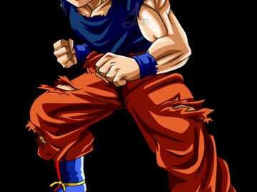Goku à l'état normal - Fort, gai et maladroit