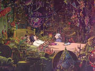 """Howl's moving castle - Frame from the movie """"Howl's Moving Castle"""""""