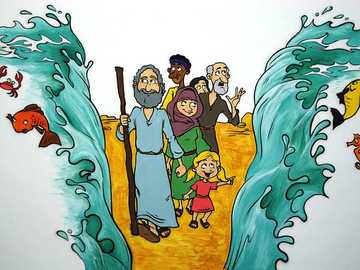 Israel crossing the sea - This story is in the book of Genesis