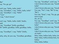Hello goodbye Beatles - Beatles song, this is the lyrics of that beautiful song