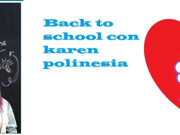 Back to school - Go to school with Polynesian Karen (edited photo and things written in pain) and her brothers Lessli