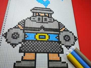 Mega Knight Clash Royale - groß, stark, cool, es ist aus einem Spiel