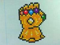 pixelová nekonečná rukavice