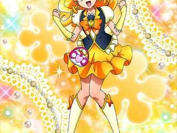 大 森 悠子 (蜂蜜 天使 Cure Honey) - Chargement du bonheur該 團隊。 變身 口號 : 結實 於 大地 的 生命 之 光! 蜂蜜