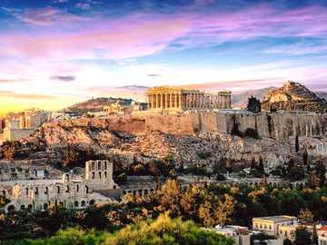 View of Athene in Greece - View of Athene in Greece, the Parthenon and the Acropolis
