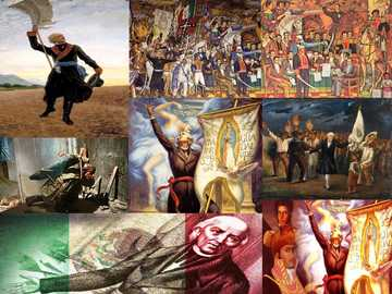 Mexico's independence - Discover the pictures, completing the puzzle.