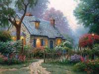 Mały wiejski domek - Mały wiejski domek w uroczym miejscu