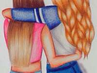 BESTE FREUNDE - Das bedeutet, dass die besten Freunde wahr sind und dass sie existieren und dass wir uns immer auf s