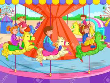 Hugo is afraid - Hugo freaks out on the carousel