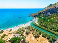 Plaja Preveli - Această plajă din Creta este una dintre cele mai fotografiate din Grecia