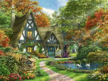 Painting - Beautiful cottage painting
