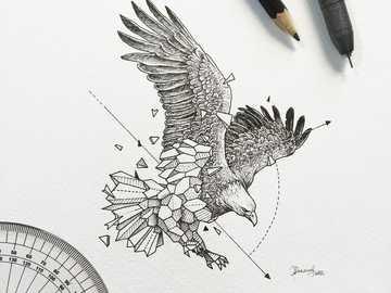 agula geometrica - animal , geométrico , águila