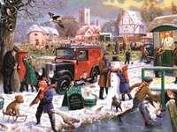 Inverno nella piccola città - Inverno nella piccola città