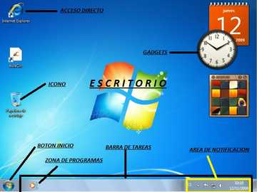 Mediul Windows - Părți de mediu Windows 7