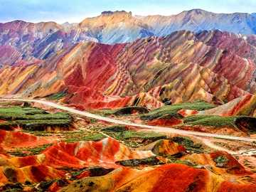 rainbow mountains in china - rainbow mountains in china .................