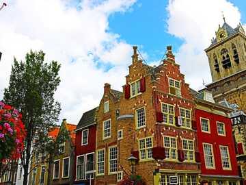 Casas históricas de Delft Holanda - Casas históricas de Delft Holanda