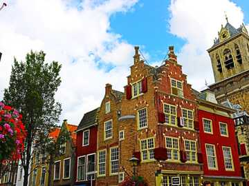Delft historic houses Netherlands - Delft historic houses Netherlands