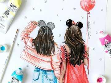 BEST FRIENDS - It is the image of best friends, bone, bff, it is also said
