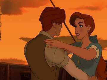 dança dimitri e anastasia - Dimitri e Anastasia dançando na cena do barco