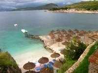 beach in albani - m ....................