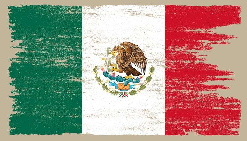 LATEN WE DE LANDVAKANTIE VIEREN - VLAG, PATRIO DE MEXICO SYMBOOL (10×6)