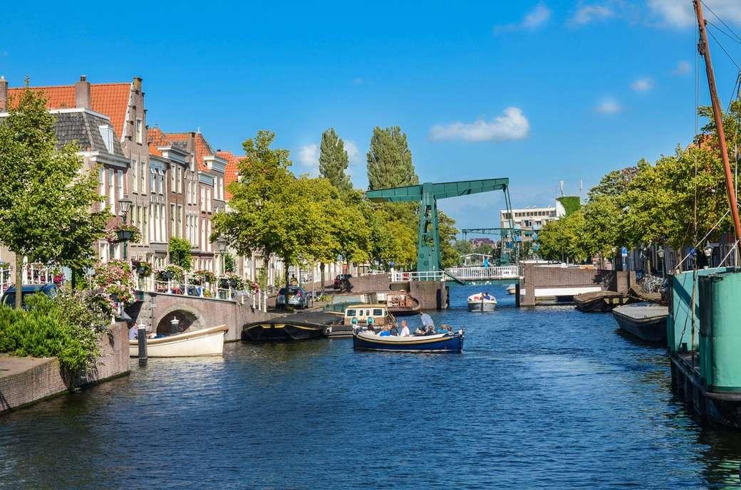 Ciudad de Leiden en los Países Bajos (13×9)