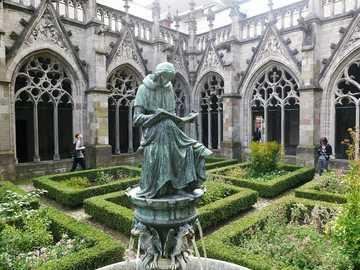 Utrecht monastery garden in the Netherlands - Utrecht monastery garden in the Netherlands