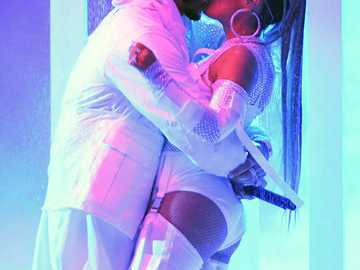 Anuel aa and Karol G - This is another photo of the couple from the urban genre. She is my favorite partner I love her