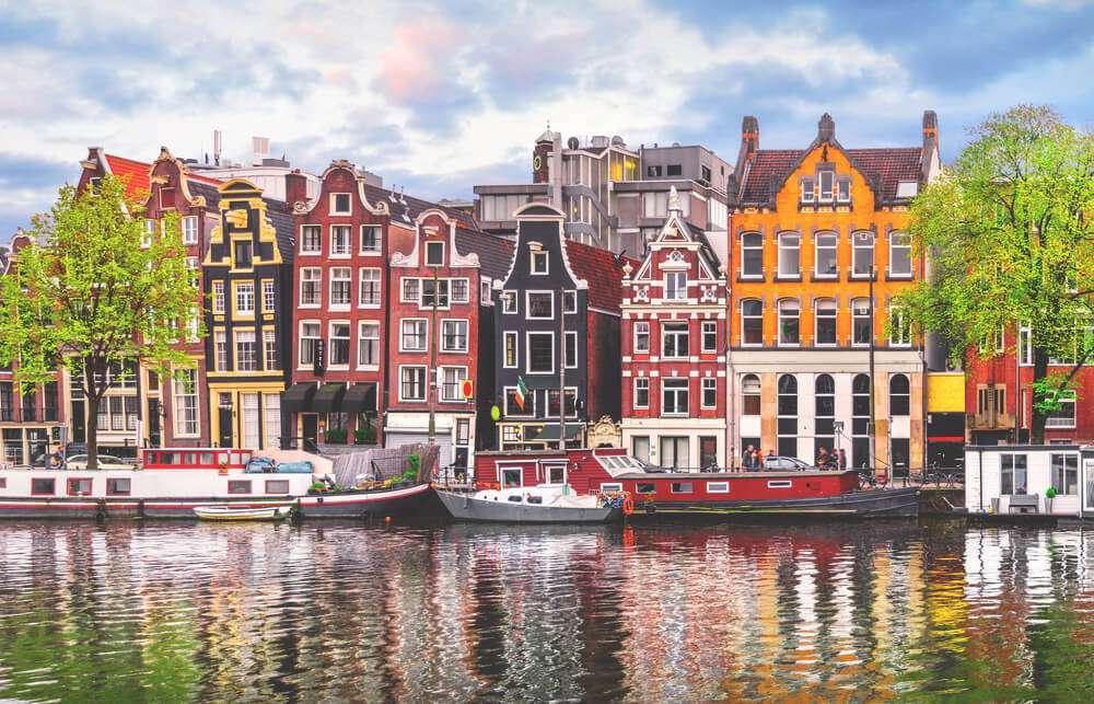 Panorama de la ciudad de Amsterdam Países Bajos (13×9)