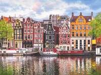 Πανόραμα πόλεων του Άμστερνταμ Κάτω Χώρες