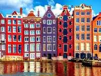 Panorama de la ville d'Amsterdam Pays-Bas