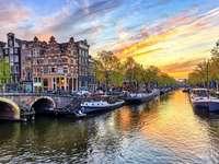 Панорама на град Амстердам Холандия - Панорама на град Амстердам Холандия