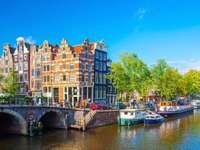 Panorama de la ciudad de Amsterdam Países Bajos