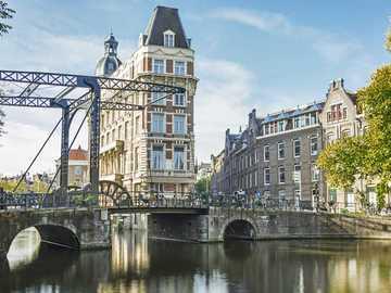 Panorama miasta Amsterdam Holandia - Panorama miasta Amsterdam Holandia