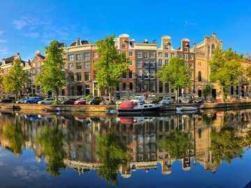 Amsterdam city panorama Netherlands - Amsterdam city panorama Netherlands