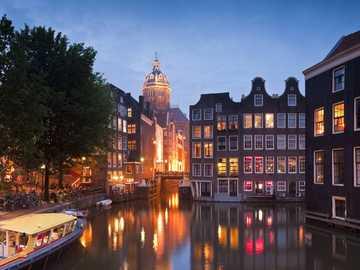 Amsterdam at night Netherlands - Amsterdam at night Netherlands